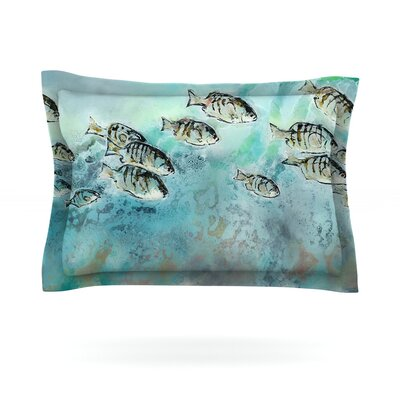 Surf Perch by Josh Serafin Featherweight Pillow Sham Size: Queen, Fabric: Cotton
