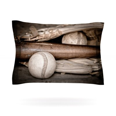 Play Ball by Debbra Obertanec Featherweight Pillow Sham Size: King, Fabric: Cotton