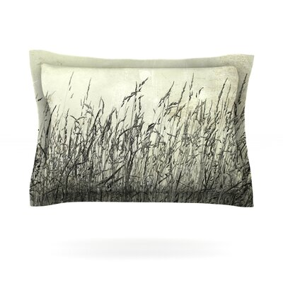 Summer Grasses by Iris Lehnhardt Featherweight Pillow Sham Size: King, Fabric: Cotton
