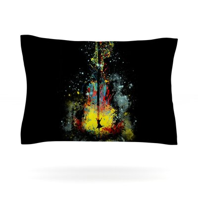 Midnight Syphony by Frederic Levy-Hadida Featherweight Pillow Sham Size: Queen, Fabric: Cotton