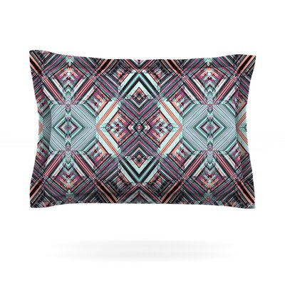 Watercolor Caledoscope by Gabriela Fuente Featherweight Pillow Sham Size: King, Fabric: Cotton