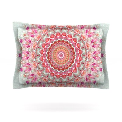 Summer Lace III by Iris Lehnhardt Featherweight Pillow Sham Size: King, Fabric: Cotton