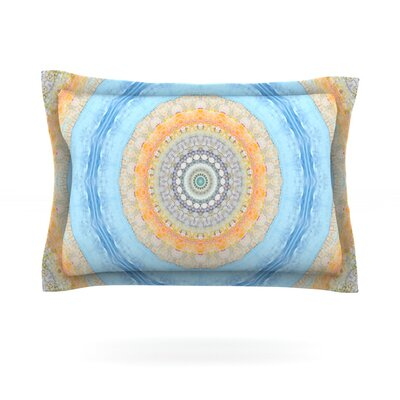 Summer Mandala by Iris Lehnhardt Featherweight Pillow Sham Size: King, Fabric: Cotton