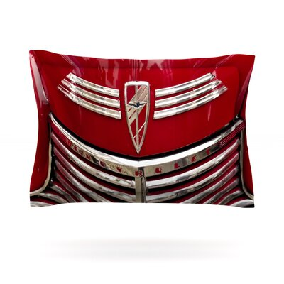 Red Chevy by Ingrid Beddoes Featherweight Pillow Sham Size: King, Fabric: Cotton