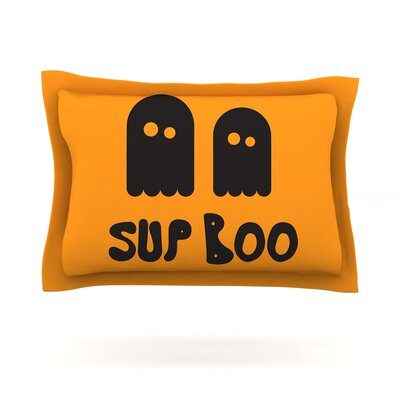 Sup Boo Featherweight Pillow Sham Size: Queen, Fabric: Cotton