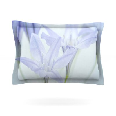 Triplet Lily by Iris Lehnhardt Featherweight Pillow Sham Size: Queen, Fabric: Cotton