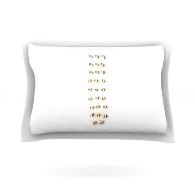 ABC by Ingrid Beddoes Featherweight Pillow Sham Size: King, Fabric: Cotton