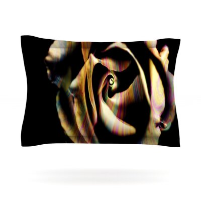 Rose Swirl by Ingrid Beddoes Featherweight Pillow Sham Size: King, Fabric: Cotton