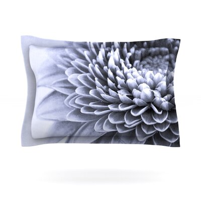 A Flower by Iris Lehnhardt Featherweight Pillow Sham Size: Queen, Fabric: Cotton