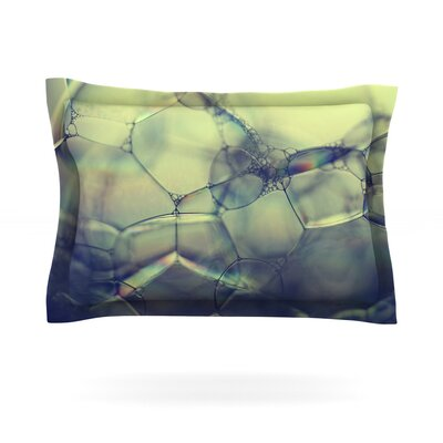 Bubblicious by Ingrid Beddoes Featherweight Pillow Sham Size: Queen, Fabric: Cotton