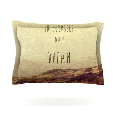 Believe by Ingrid Beddoes Featherweight Pillow Sham Size: Queen, Fabric: Cotton