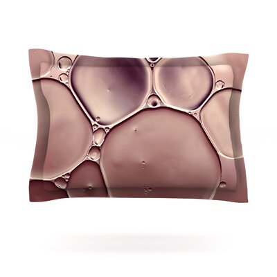 Dusty Pink by Ingrid Beddoes Featherweight Pillow Sham Size: King, Fabric: Cotton
