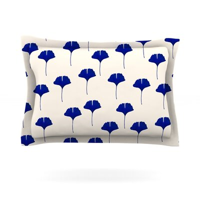 Leaf Pattern by Iris Lehnhardt Featherweight Pillow Sham Size: Queen, Fabric: Cotton