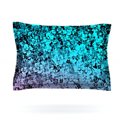 Flower Power by Ebi Emporium Woven Pillow Sham Color: Blue, Size: King