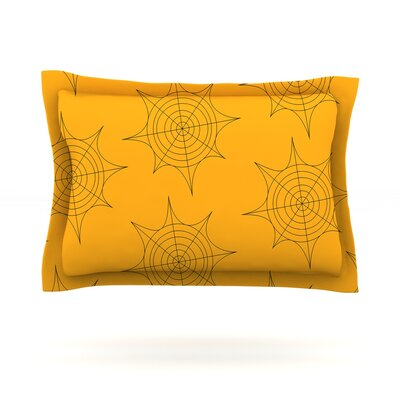 Spiderwebs Featherweight Pillow Sham Size: Queen, Fabric: Cotton