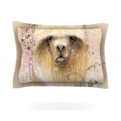 Llama Me by Geordanna Cordero-Fields Featherweight Pillow Sham Size: Queen, Fabric: Cotton