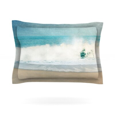 Ocean Blues by Ingrid Beddoes Featherweight Pillow Sham Size: King, Fabric: Cotton