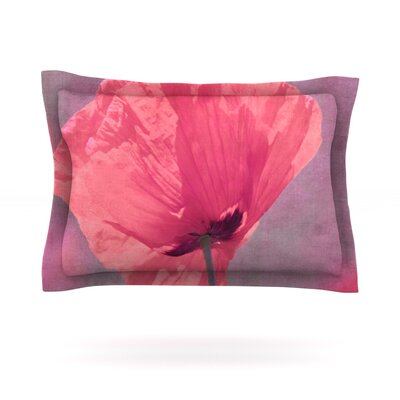 Poppy by Iris Lehnhardt Featherweight Pillow Sham Size: King, Fabric: Cotton