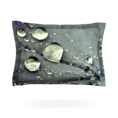 Water Droplets by Iris Lehnhardt Featherweight Pillow Sham Size: King, Color: Blue, Fabric: Cotton
