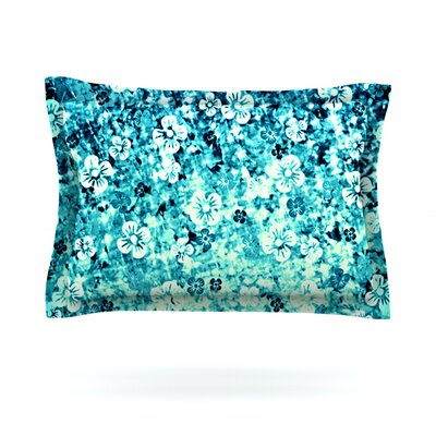 Flower Power by Ebi Emporium Featherweight Pillow Sham Size: King, Color: Blue/Teal