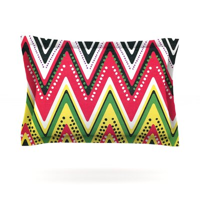 Jamaican Me Crazy by Heidi Jennings Featherweight Pillow Sham Size: Queen, Fabric: Cotton