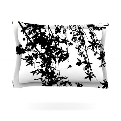 Black on White by Ingrid Beddoes Featherweight Pillow Sham Size: King, Fabric: Cotton