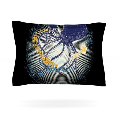 Tentacular Trap by Frederic Levy-Hadida Featherweight Pillow Sham Size: King, Fabric: Cotton