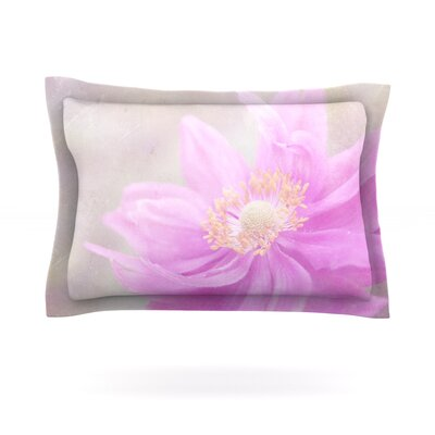 Wind Flower by Iris Lehnhardt Featherweight Pillow Sham Size: Queen, Fabric: Cotton