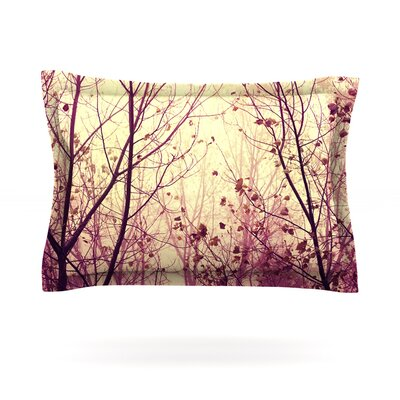 My Secret Garden by Ingrid Beddoes Featherweight Pillow Sham Size: King, Fabric: Cotton