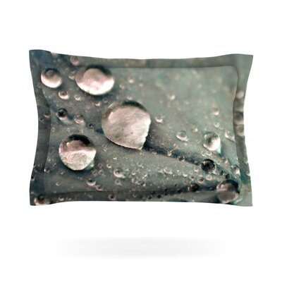 Water Droplets by Iris Lehnhardt Featherweight Pillow Sham Size: Queen, Color: Gray, Fabric: Cotton