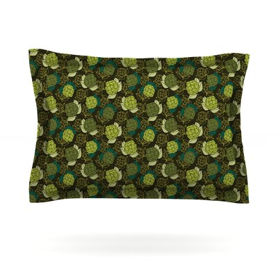 Camillia Dark by Holly Helgeson Featherweight Pillow Sham Size: King, Fabric: Cotton