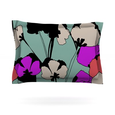 Vintage Flowers by Gabriela Fuente Featherweight Pillow Sham Size: Queen, Fabric: Cotton