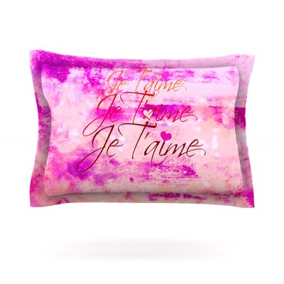 Je Taime by Ebi Emporium Featherweight Pillow Sham Size: King, Fabric: Cotton