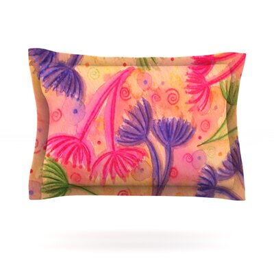 Cow Parsley by Ebi Emporium Featherweight Pillow Sham Size: Queen, Fabric: Cotton