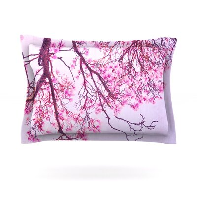 Magnolia Trees by Iris Lehnhardt Featherweight Pillow Sham Size: Queen, Fabric: Cotton