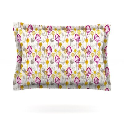 Mulberry by Julie Hamilton Featherweight Pillow Sham Size: Queen, Fabric: Cotton