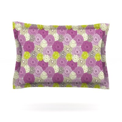 Rhapsody by Julie Hamilton Featherweight Pillow Sham Size: King, Fabric: Cotton