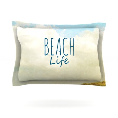 Beach Life by Iris Lehnhardt Featherweight Pillow Sham Size: King, Fabric: Cotton
