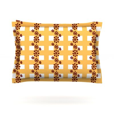 Mushroom Repeat by Jane Smith Featherweight Pillow Sham Size: King, Fabric: Cotton