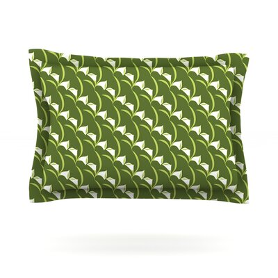 Deco Calla Lily by Holly Helgeson Featherweight Pillow Sham Size: Queen, Fabric: Cotton
