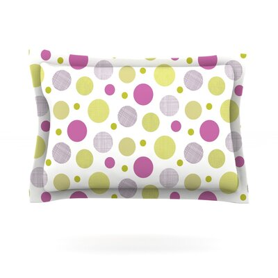 Rhapsody Dot by Julie Hamilton Featherweight Pillow Sham Size: Queen, Fabric: Cotton