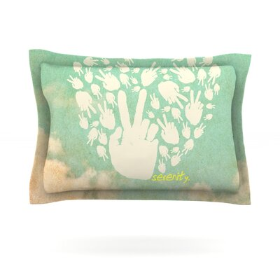 Serenity Featherweight Pillow Sham Size: King, Fabric: Cotton