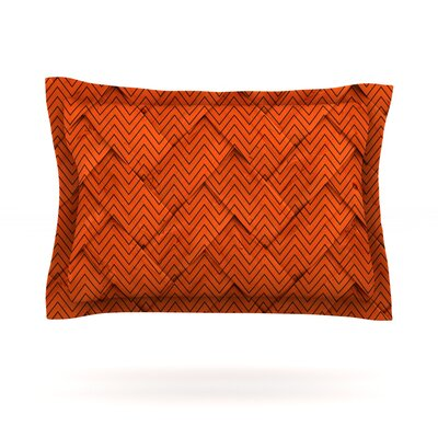 Chevron Weave Featherweight Pillow Sham Size: King, Fabric: Cotton