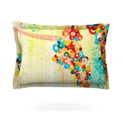 Summer in Bloom by Ebi Emporium Featherweight Pillow Sham Size: Queen, Fabric: Cotton