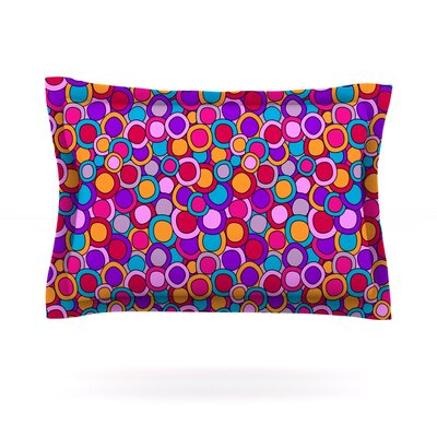 My Colourful Circles by Julia Grifol Featherweight Pillow Sham Size: King, Fabric: Cotton