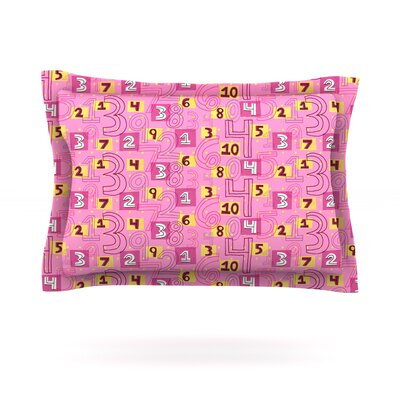 Vintage Playground II by Jane Smith Featherweight Pillow Sham Size: King, Fabric: Cotton