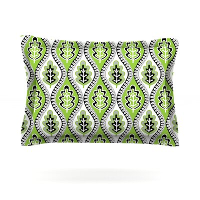 Oak Leaf by Jacqueline Milton Featherweight Pillow Sham Size: Queen, Color: Green