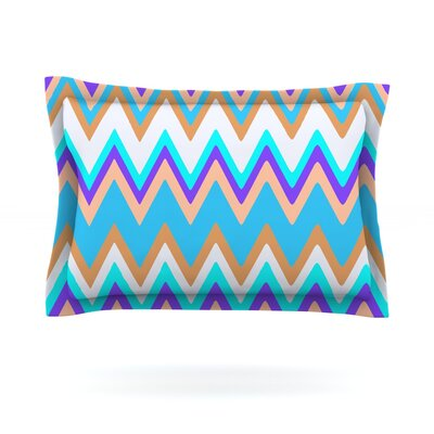 Girly Surf Chevron by Nika Martinez Featherweight Pillow Sham Size: King, Fabric: Cotton