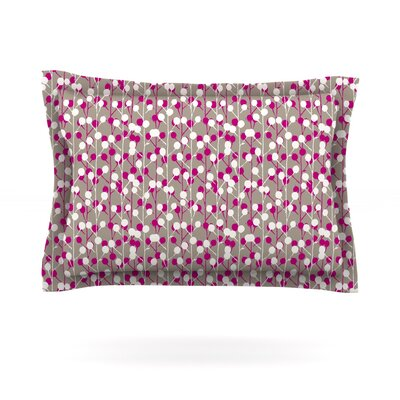 Wineberry by Julie Hamilton Featherweight Pillow Sham Size: King, Fabric: Cotton