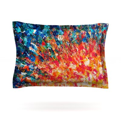 The Clash by Ebi Emporium Featherweight Pillow Sham Size: King, Fabric: Cotton